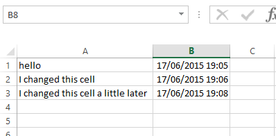 Create A Date Time Stamp In Excel with VBA - How To Excel At