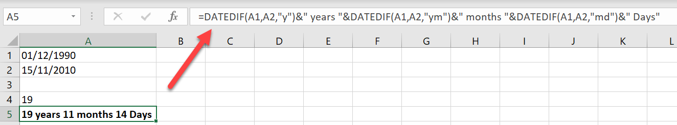 DATED IF FUNCTION IN EXCEL