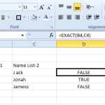 Formula Friday – Excel Tip – The EXACT Formula
