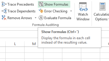excel formulas showing not the results