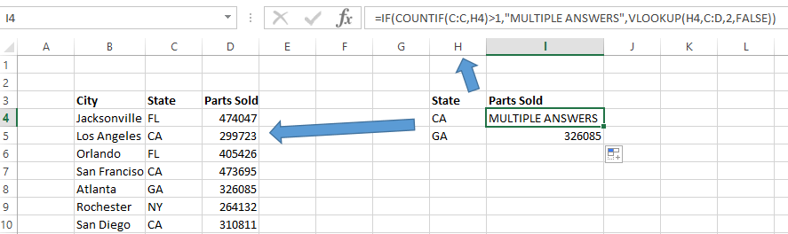 if statement with VLOOKUP formula in Excel