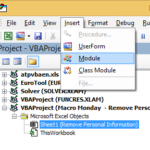 Macro Mondays – Remove Personal Information From Excel Using Some Simple VBA