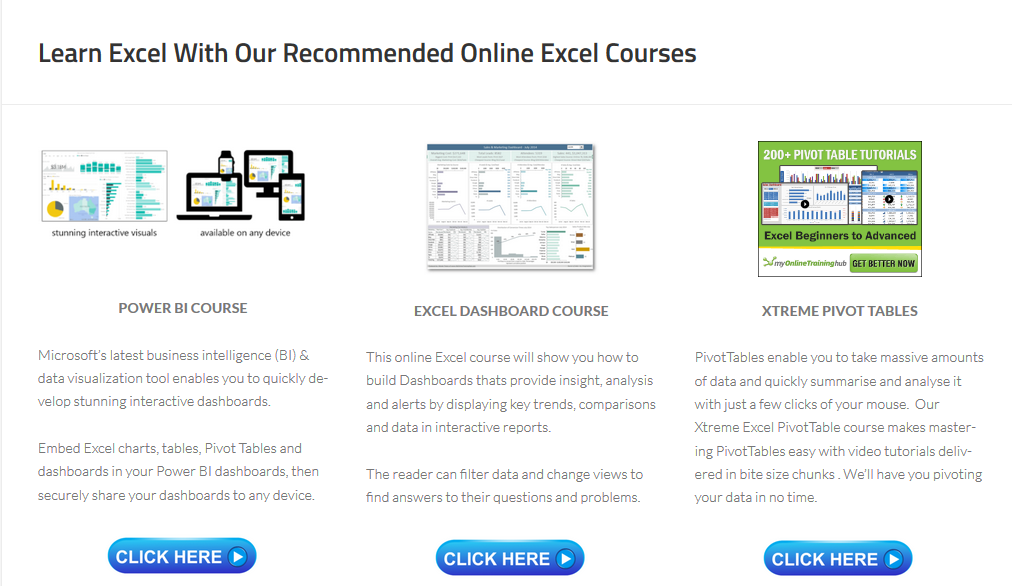 Learn Excel With Our Excel Online Courses