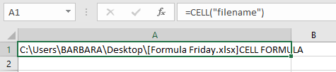 cell function Excel