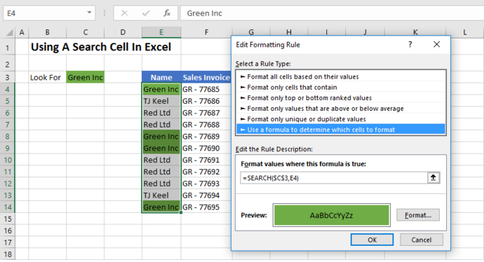 FORMULA FRIDAY SEARCH FUNCTION CREATE SEARCH BAR IN CELL