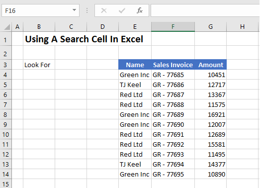 FORMULA FRIDAY USE SEARCH FUNCTION AS SEARCH BAR