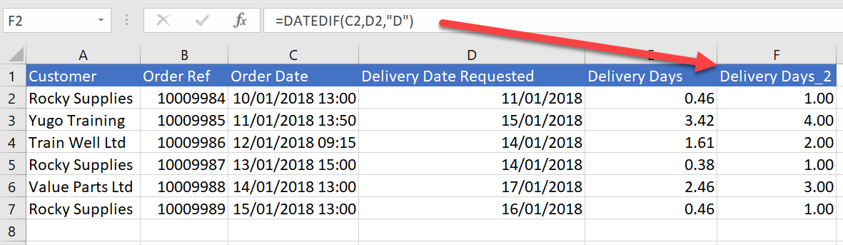 DATE DIFFERENCE DATEDIF EXCEL formula